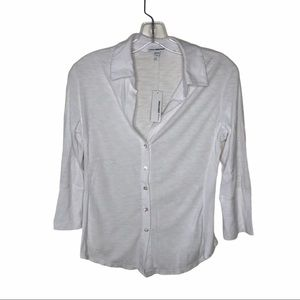 NWT Standard James Perse White Button Up Blouse M